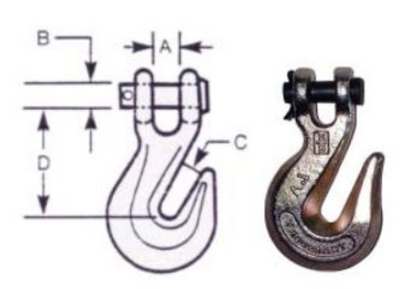 """Vanguard 3931-0024 Clevis Grab Hook - Alloy Steel 3/8"""""""