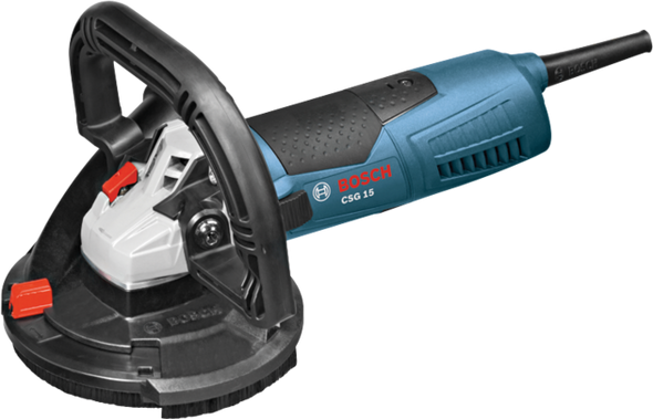 "Bosch 5"" Concrete Surfacing Grinder with Dedicated Dust-Collection Shroud"