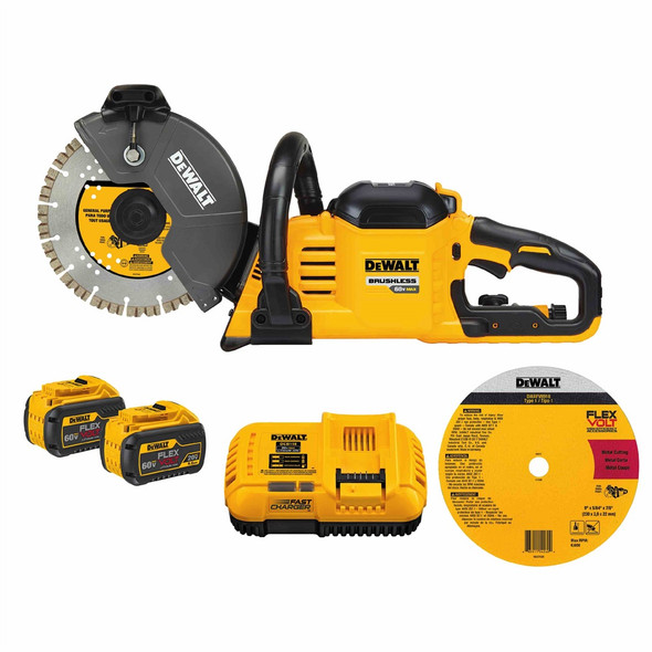 DeWalt 60V Max Brushless 9″ Cut-Off Saw Kit