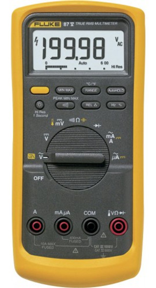Fluke 87V Industrial RMS Multimeter with Temperature