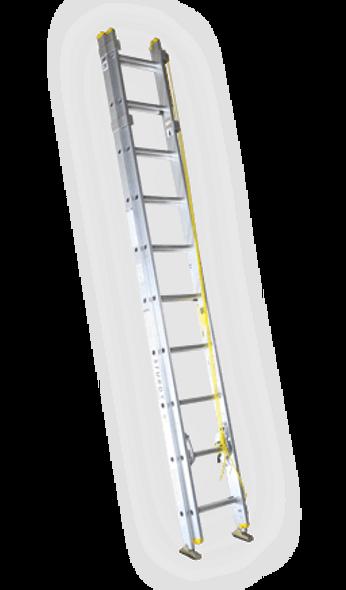 Sturdy A132-28 28' A132 Series Aluminum Extension Ladder