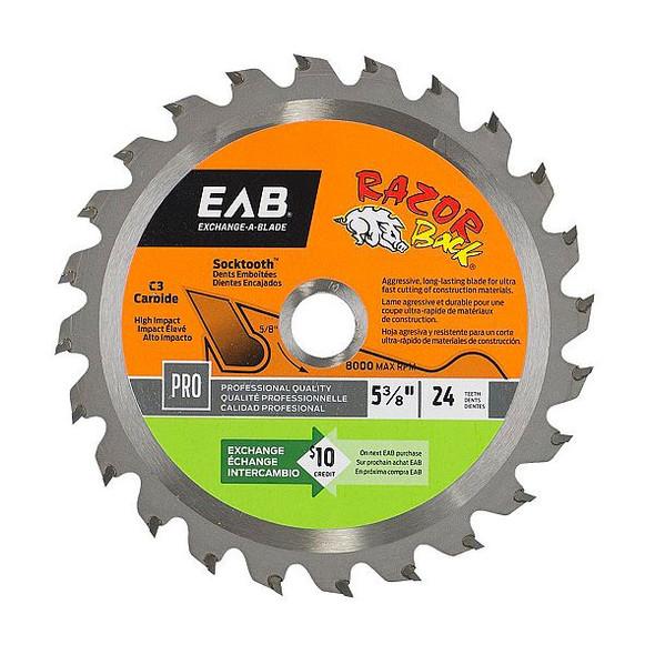 "Exchange A Blade 1016052 5 3/8"" x 24 Teeth Carbide Razor Back Professional Saw Blade"