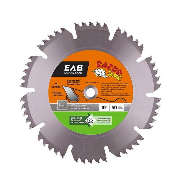 "Exchange A Blade 1016832 10"" x 50 Teeth Carbide Razor Back Professional Saw Blade"