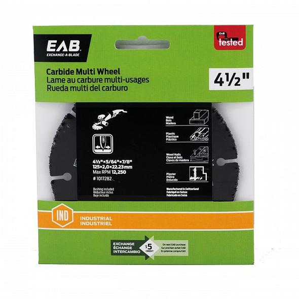 "Exchange A Blade 1017282 4-1/2"" Carbide Multi Wheel"
