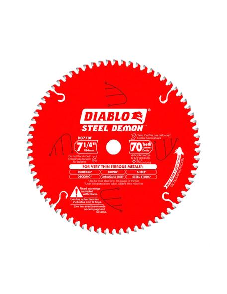 Diablo 7‑1/4 in. x 70 Tooth Metal Cutting Saw Blade