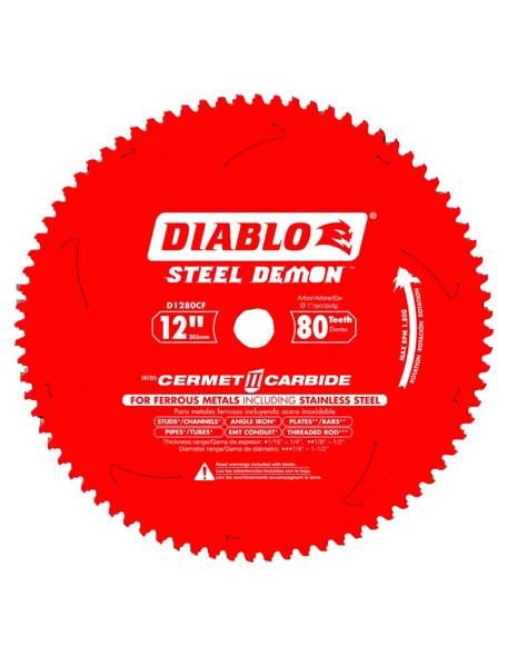 """Diablo D1280CF Steel Demon 12""""-80T Ferrous Metal Cutting Blade"""