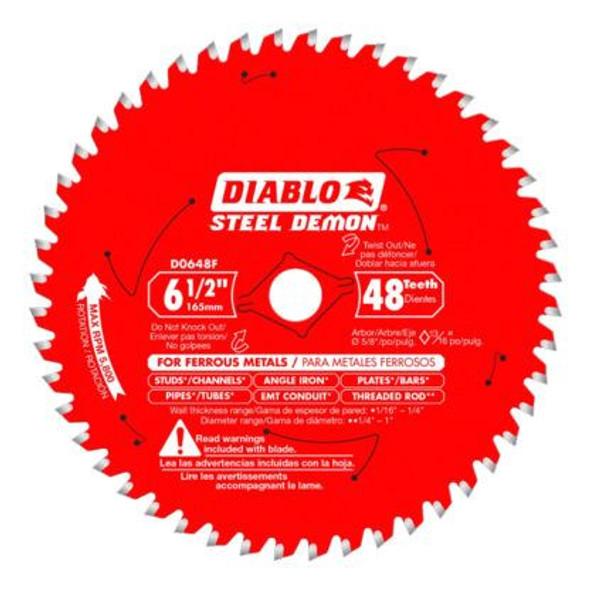 Diablo Steel Demon 6‑1/2″ x 48T Metal Cutting Saw Blade