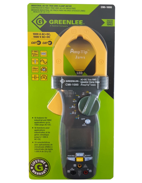 Greenlee CMI-1000 Clamp Meter AC/DC