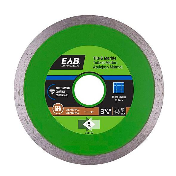 """Exchange-A-Blade 3110102 3-3/8"""" Continuous Tile Green Diamond Blade"""