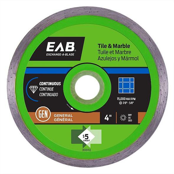 """Exchange-A-Blade 3110112 4"""" Continuous Tile Green Diamond Blade"""