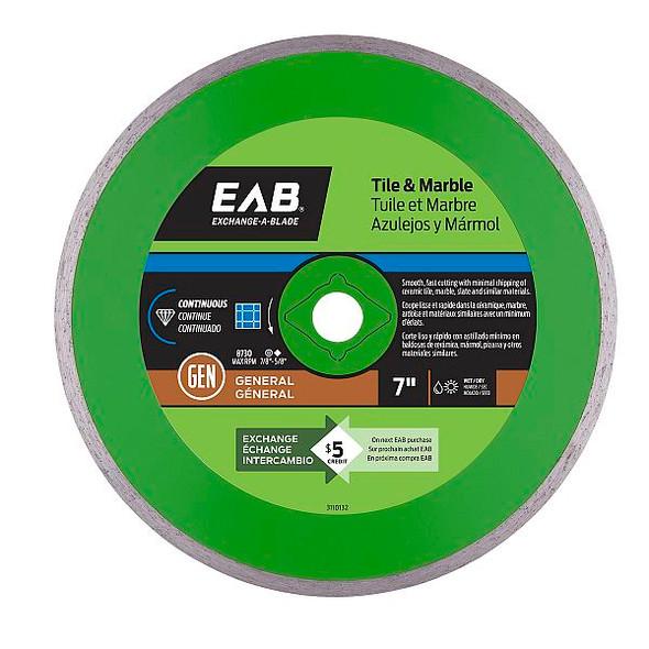 """Exchange-A-Blade 3110132 7"""" Continuous Tile Green Diamond Blade"""