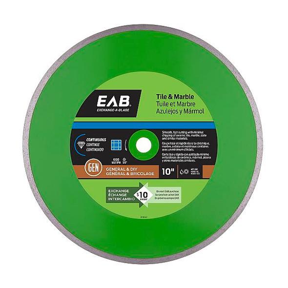 """Exchange-A-Blade 3110142 10"""" Continuous Tile Green Diamond Blade"""