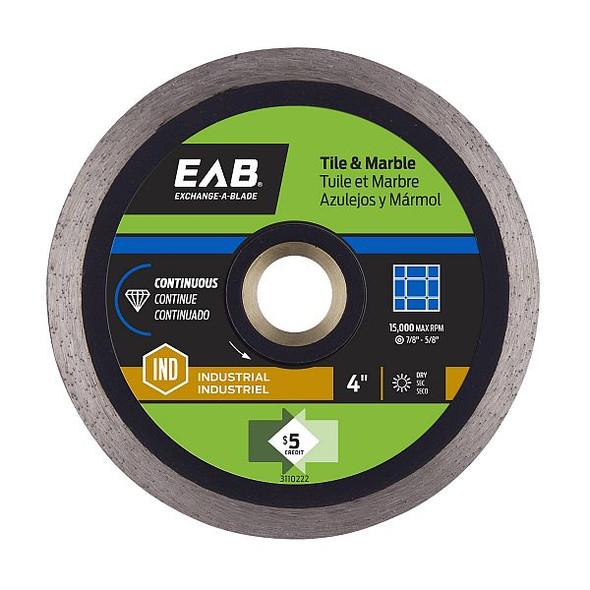 "Exchange-A-Blade 3110222 4"" Continuous Tile Blk Ind. Diamond Blade"