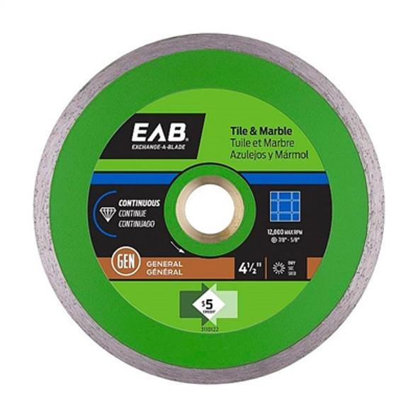 """Exchange-A-Blade 3110122 4 1/2"""" Continuous Tile Green Diamond Blade"""