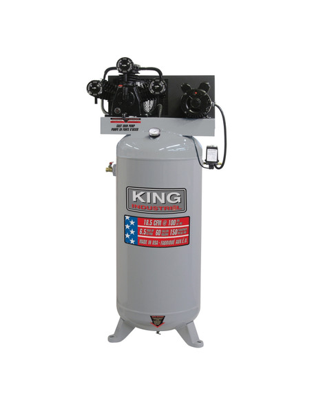 KING CANADA KC-5160V1 High Output 6.5 Peak HP 60 Gallon Air Compressor