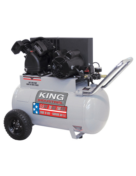 KING CANADA KC-2051H1 5.5 Peak HP 20 Gallon Air Compressor