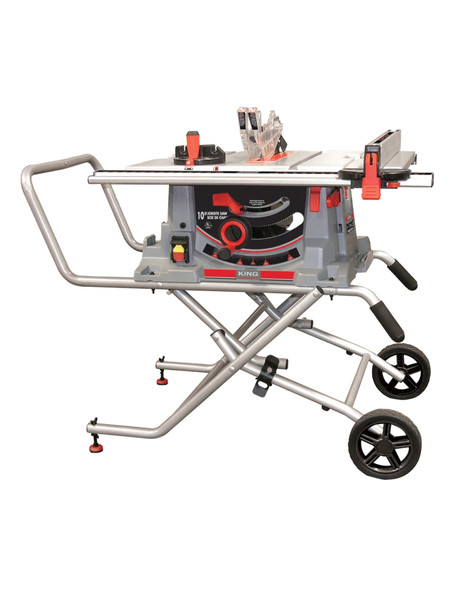 """KING CANADA KC-5100C 10"""" Jobsite Saw With Folding Stand"""