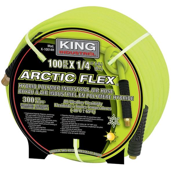 """King Canada K-10014H 1/4"""" X 100' HYBRID POLYMER IND. AIR HOSE"""