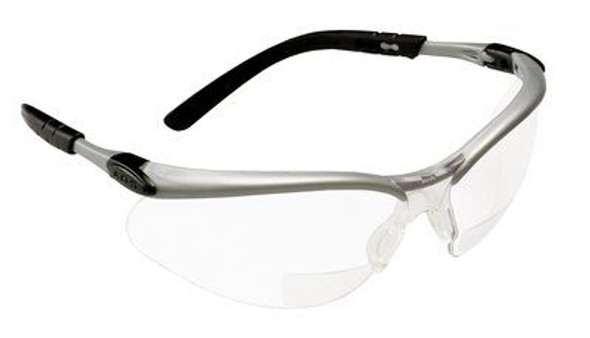 3M BX Reader Protective Eyewear 11374-00000-20 Clear Lens, Silver Frame, +1.5 Diopter