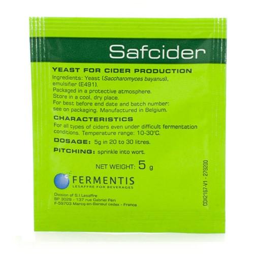 Fermentis SafCider Dry Cider Yeast 5 Gram (SL64)
