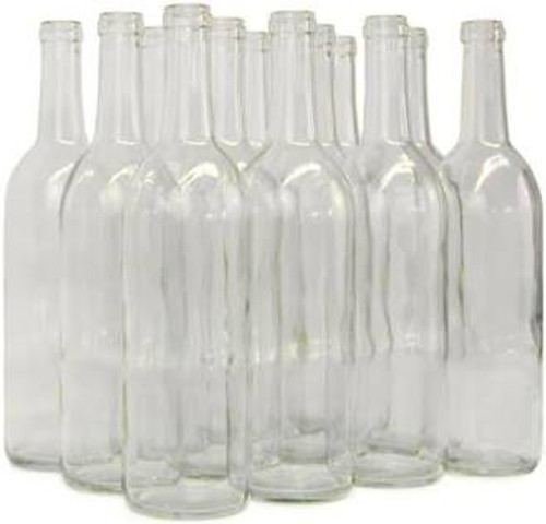 Wine Bottle 750ml Clear Flint| Case of 12  (SL70)
