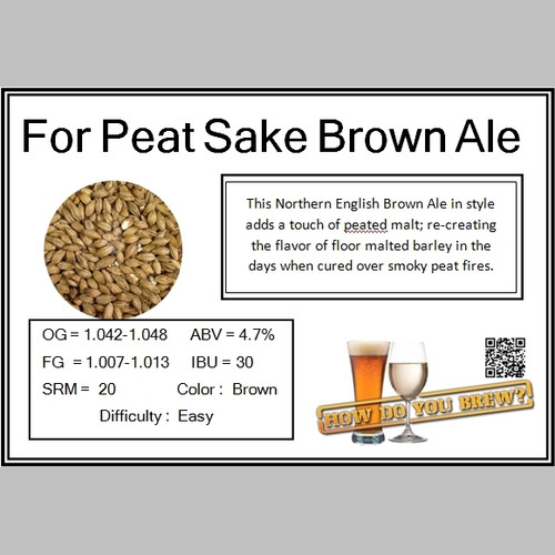 For Peated Sake Brown Ale Kit