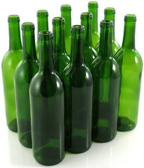 Wine Bottle 750ml GREEN (Case of 12) (SL70)