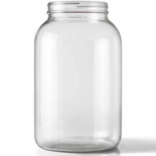 One Gallon Glass Wide Mouth Jar w/ Grommeted Lid (SL69))
