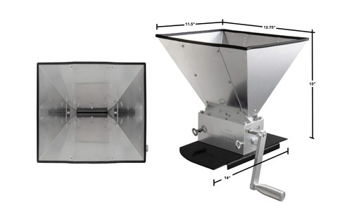 Kegco KM11GM-3R Grain Mill with 11 lb. Hopper and 3 Rollers