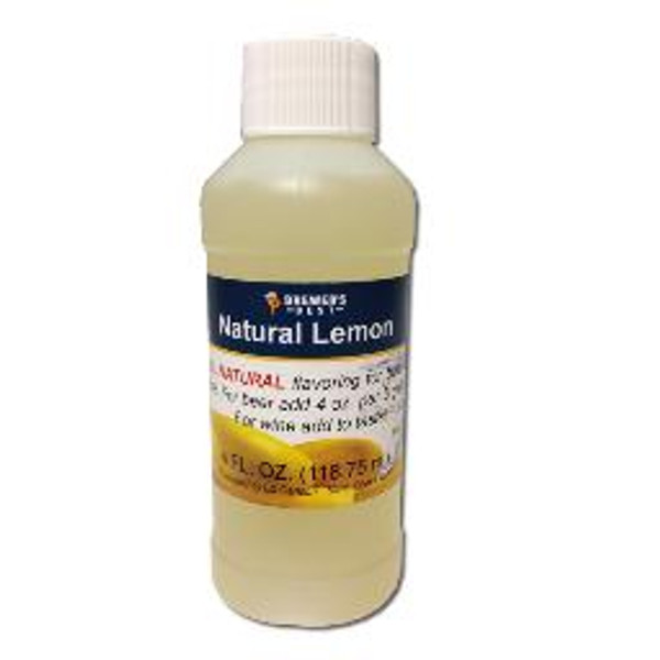 Lemon Natural Fruit Flavoring Extract 4oz