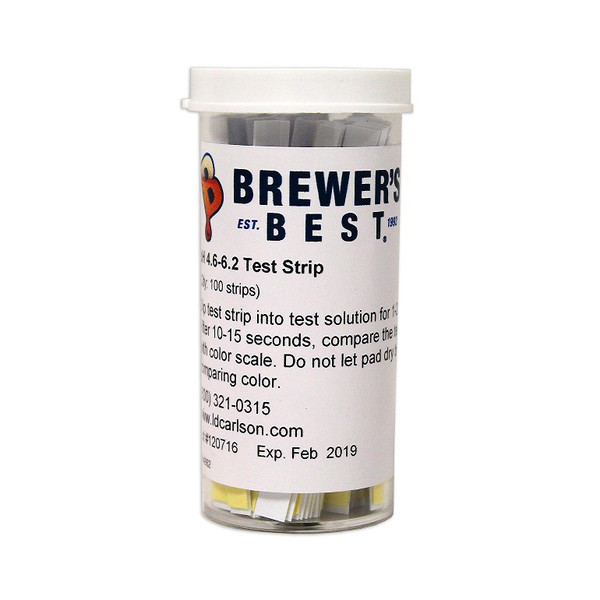 pH Test Strips - BEER | 100/Vial