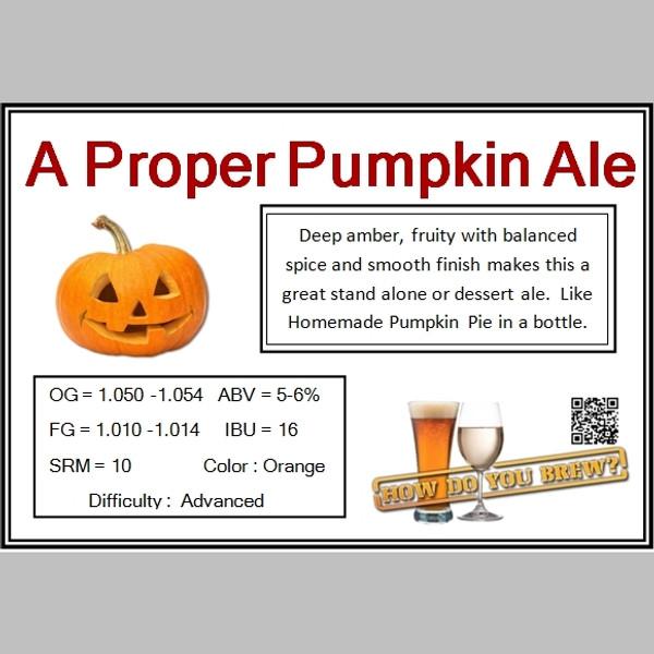 A Proper Pumpkin Ale Kit