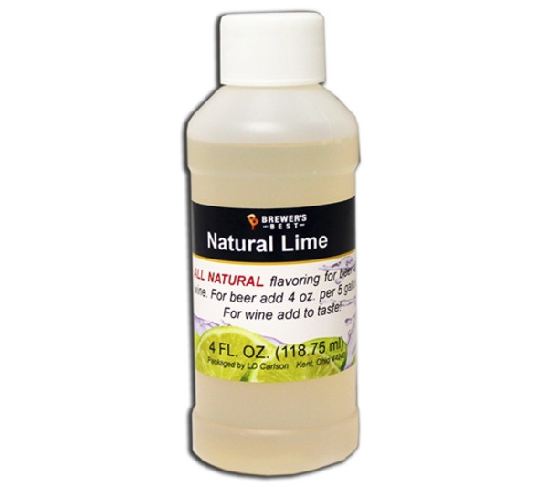 Lime Natural Fruit Flavoring Extract 4oz (SL67)