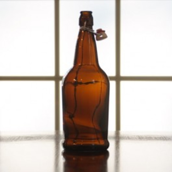 Flip Top EZ Cap 1 L   Amber (SL42)
