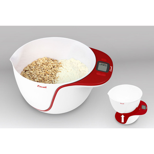 MB115AR Taso Mixing Bowl ScaleApple Red