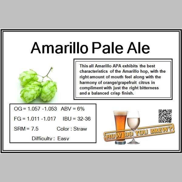 Amarillo Pale Ale Kit