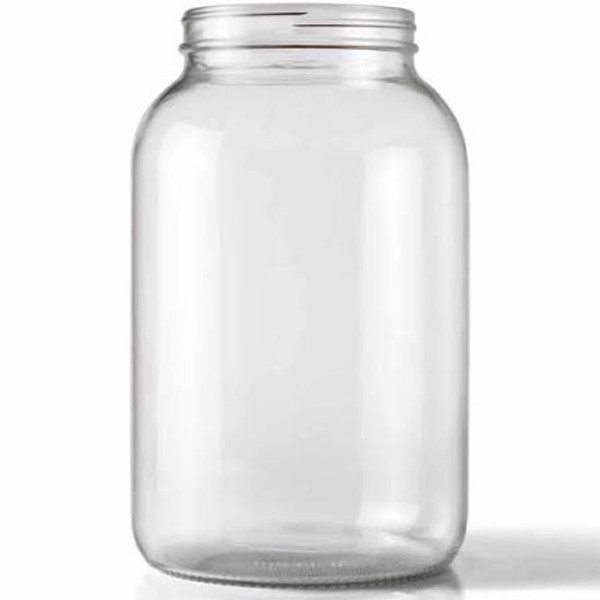 One Gallon Glass Wide Mouth Jar w/ Grommeted Lid