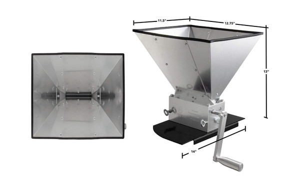 Kegco KM11GM-3R Grain Mill with 11 lb. Hopper and 3 Rollers (SL24)