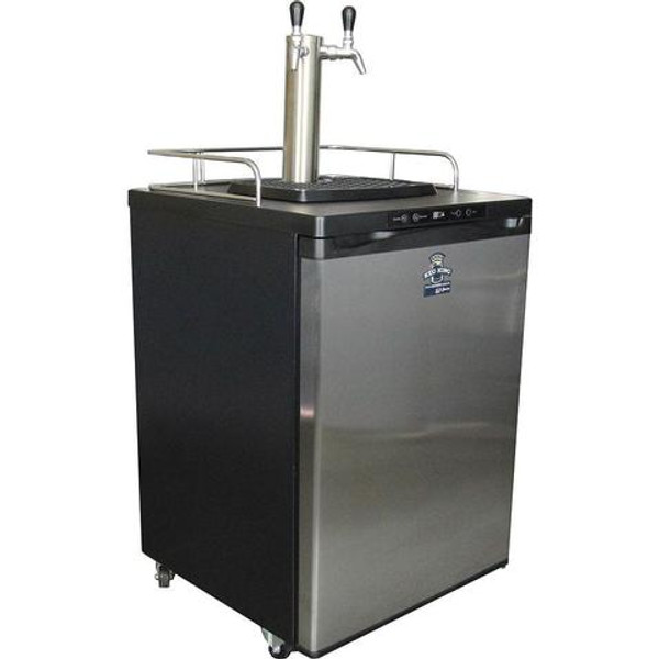 Double Tap Kegerator w/ Stainless Intertap Faucets | In Store Pick Up