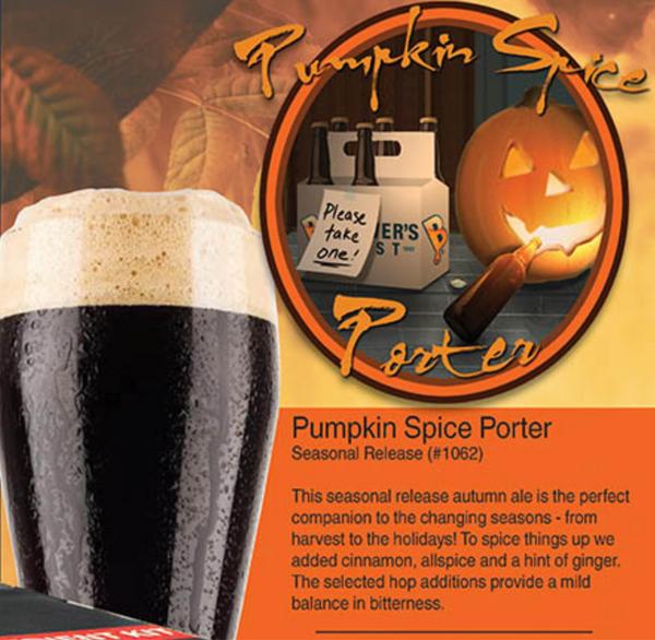 Pumpkin Spice Porter Kit | Seasonal (SL38)