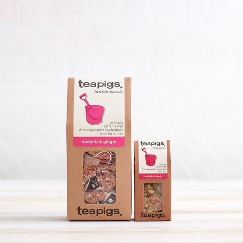 Teapigs Rhubarb and Ginger (15 Tea Temples)