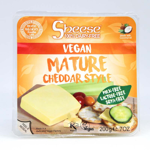 Sheese Vegan Mature Cheddar Style Cheese