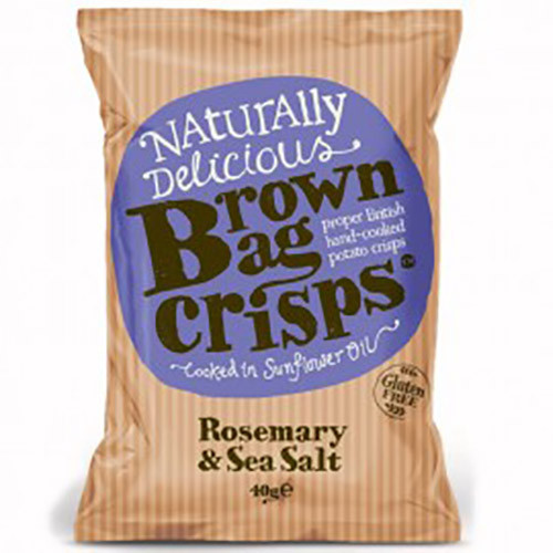 Brown Bag Crisps Rosemary and Sea Salt 150g