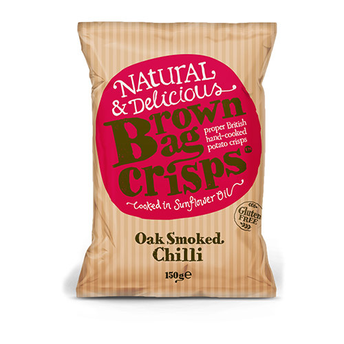 Brown Bag Crisps Oak Smoked Chilli 150g
