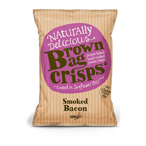Brown Bag Crisps Smoked Bacon 150g