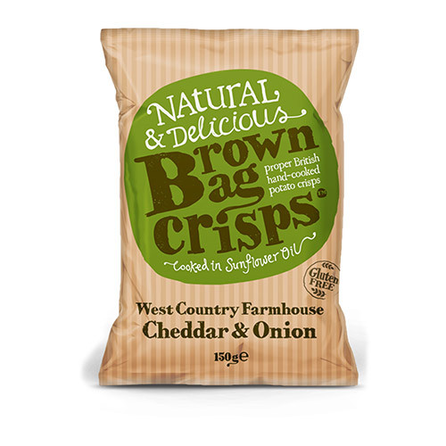 Brown Bag Crisps West Country Farmhouse Cheddar and Onion 150g