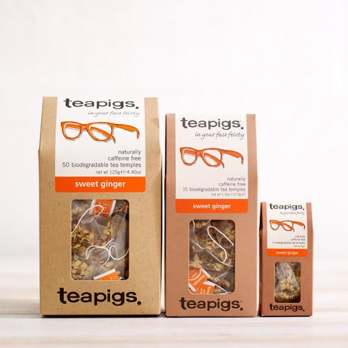 Teapigs Sweet Ginger Tea (15 Tea Temples)