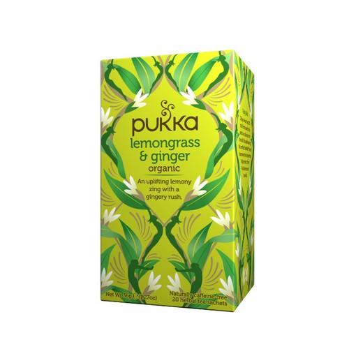 Pukka Organic Lemongrass & Ginger (20 Tea Sachets)