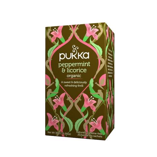 Pukka Organic Peppermint & Licorice (20 Tea Sachets)