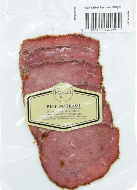 Ryan's Grocery Beef Pastrami 300gm